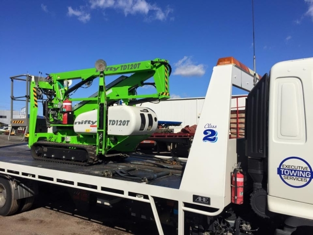 a loaded tilt tray truck hired in Perth WA